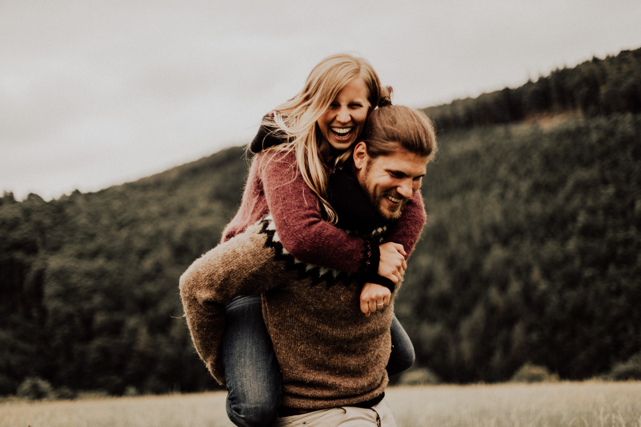 Image of Anna and Tobias in thier couples session in Lower Austria