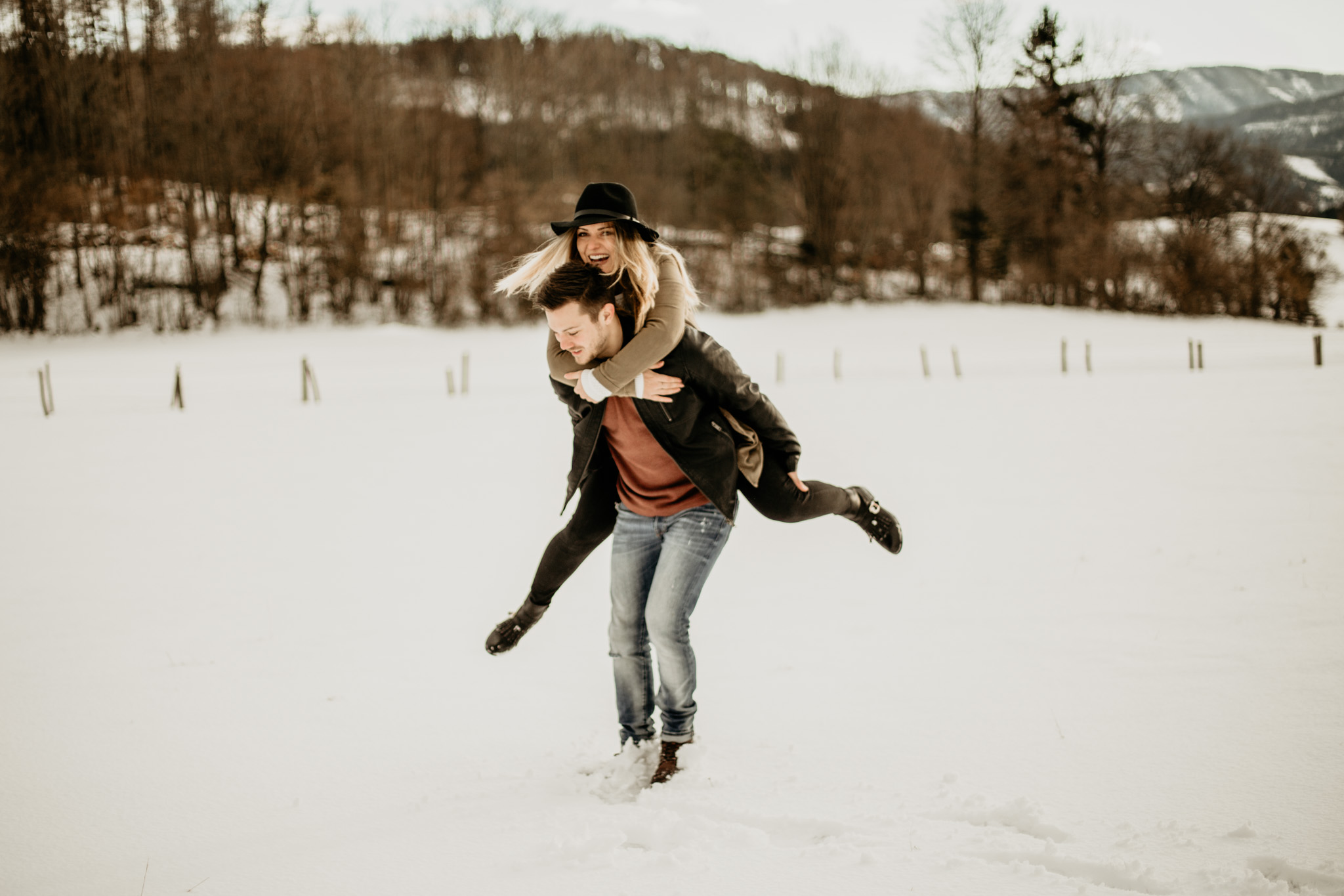Stella and Marco snow session