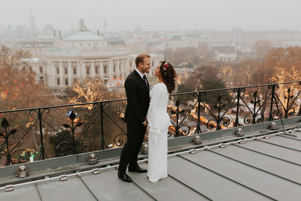 Vienna wedding rooftop session
