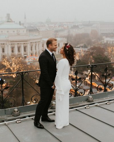 Vienna wedding rooftop session