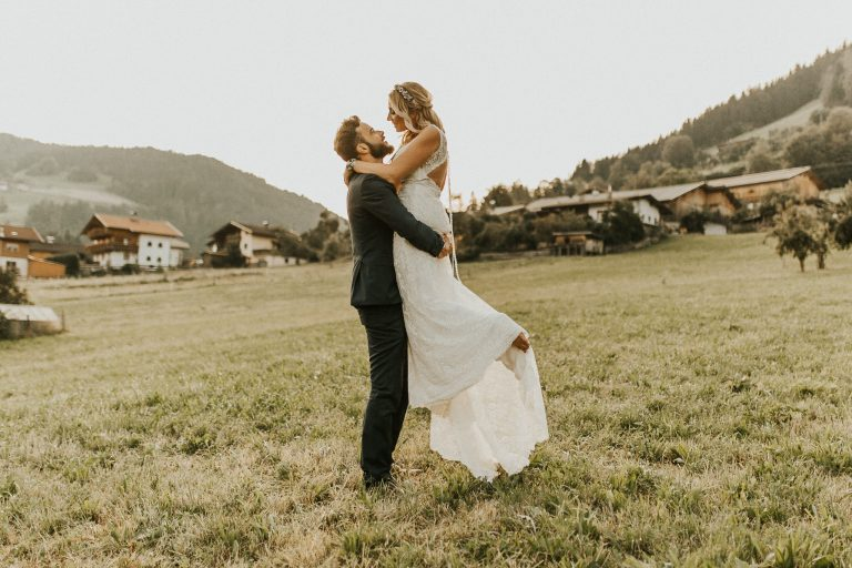 Intimate wedding photos in Tyrol