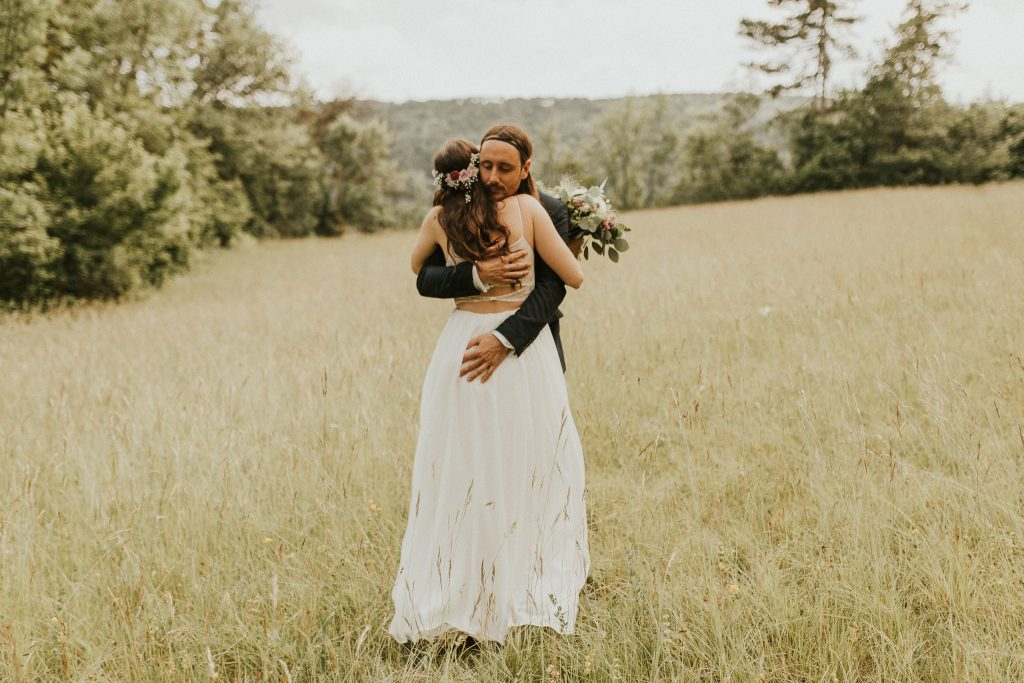 Boho outdoor forest wedding vows