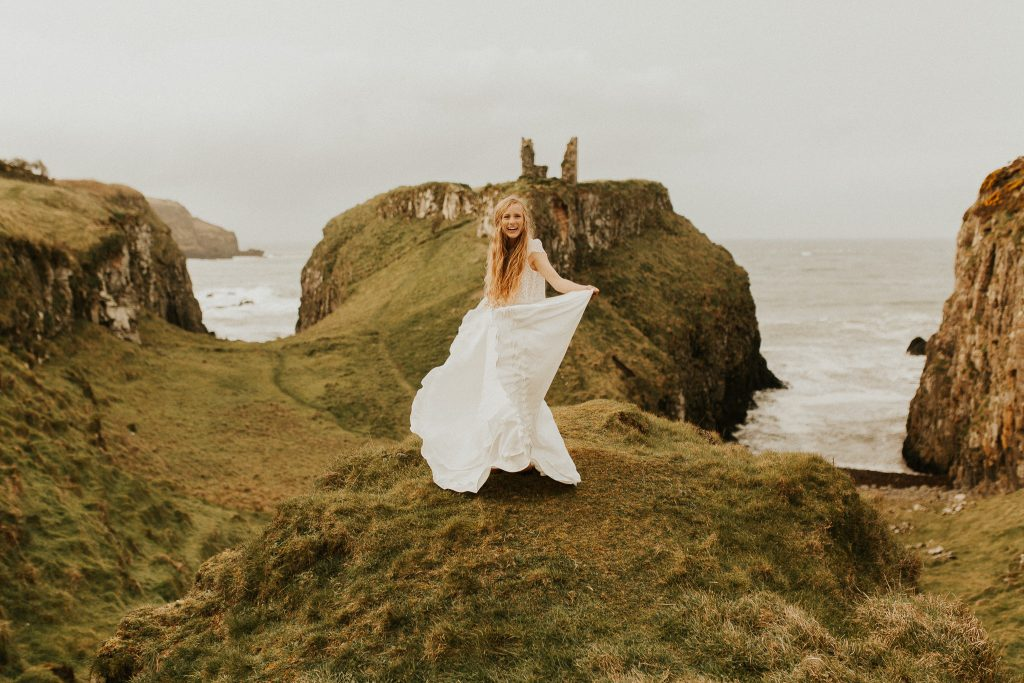 Wedding dress by Julia Sophie Bridal shoot in Ireland